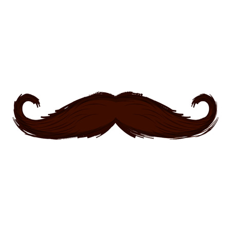 Isolated moustache icon. Hipster concept. Vector illustration design