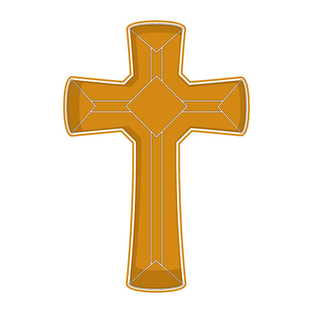 Isolated cross icon. Catholic and christian concept. Vector illustration design Illustration