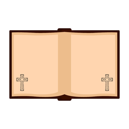 Isolated open holy bible icon. Vector illustration design