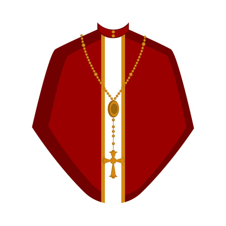Isolated cassock image. Catholic priest. Vector illustration design