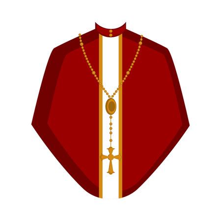 Isolated cassock image. Catholic priest. Vector illustration design Illustration