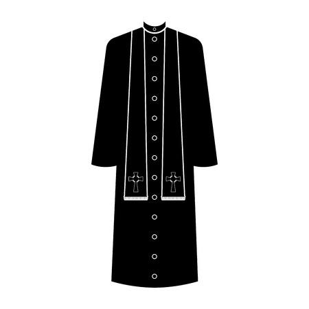 Silueta de sotana aislada. Sacerdote catolico. Diseño de ilustración vectorial