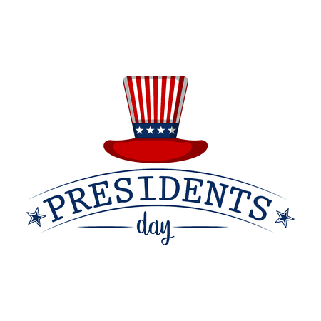 Presiden day banner with traditional hat and text. Vector illustration design