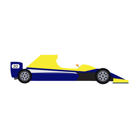 Side view of a racing car. Vector illustration design