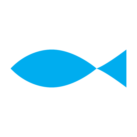 Christian fish symbol silhouette. Vector illustration design Illustration