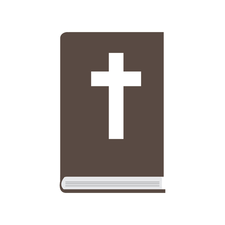 Isolated bible icon. Christian object. Vector illustration design