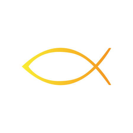 Christian fish symbol icon. Vector illustration design