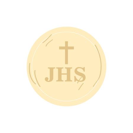 Isolated christian hostia icon. Vector illustration design