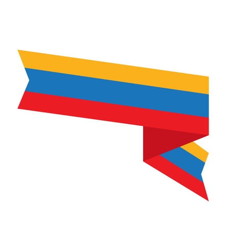 Isolated flag of Colombia. Vector illustration design
