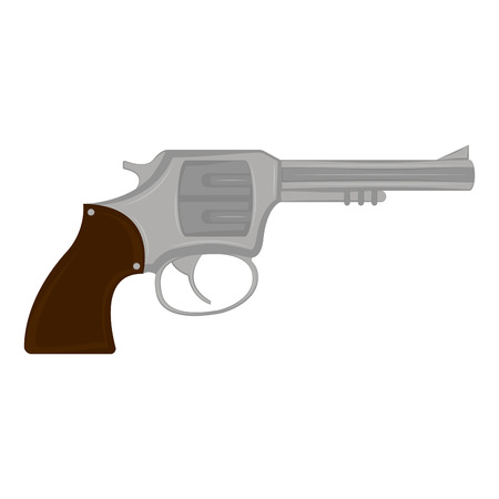 Isolated revolver icon. Weapon. Vector illustration design