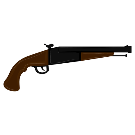 Isolated antique weapon icon. Vector illustration design Illustration