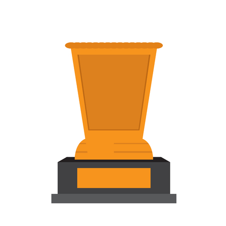 Isolated golden trophy image. Vector illustration design