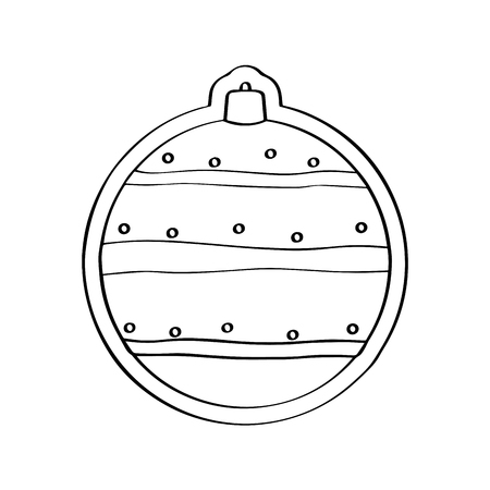 Gingerbread with a christmas ball ornament shape. Vector illustration design Çizim