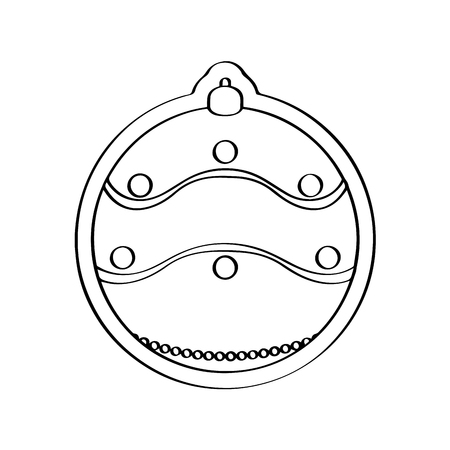 Gingerbread with a christmas ball ornament shape. Vector illustration design Vectores