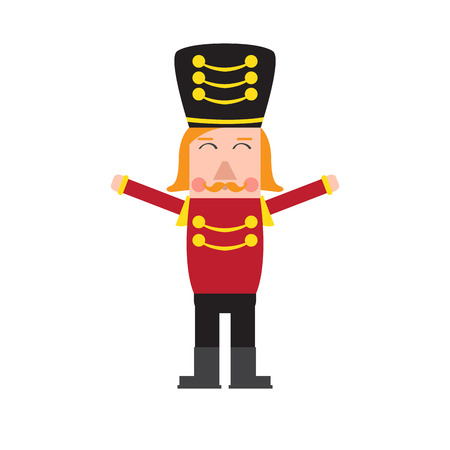 Isolated cute nutcracker soldier. Vector illustration design