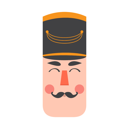 Isolated cute nutcracker soldier avatar. Vector illustration design