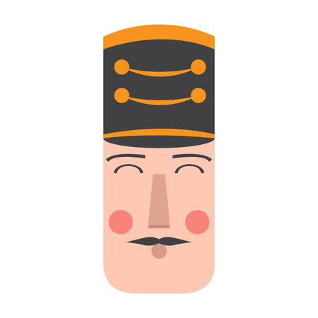 Isolated cute nutcracker soldier avatar. Vector illustration design