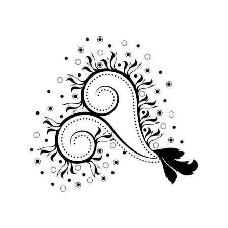 Isolated arabesque vintage pattern. Vector illustration design Illustration