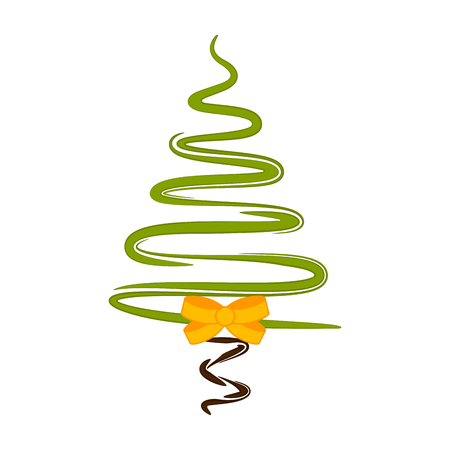 Isolated abstract christmas tree. Vector illustration design