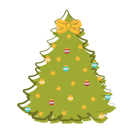 Sketch of an abstract christmas tree. Vector illustration design Çizim