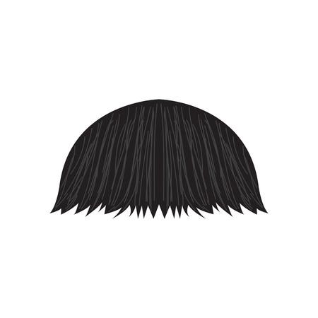 Isolierter detaillierter Schnurrbart. Hipster-Stil. Vektorillustrationsdesign Vektorgrafik