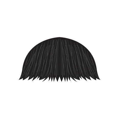 Isolated detailed mustache. Hipster style. Vector illustration design