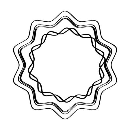 Isolated empty retro premium label icon. Vector illustration design Illustration