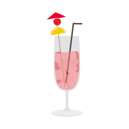 Isolated tropical cocktail image. Vector illustration design