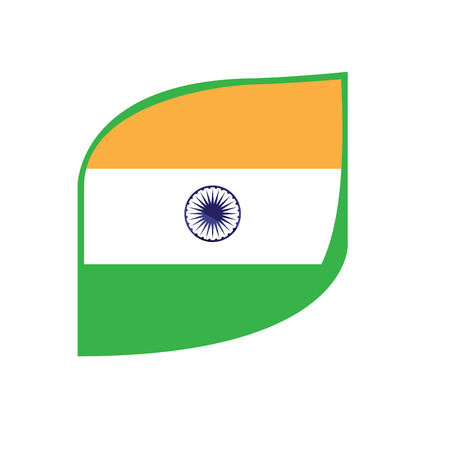 Isolated flag of India. Vector illustration design