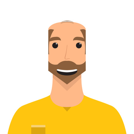 Isolated male avatar portrait. Vector illustration design