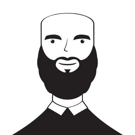 Isolated silhouette of a man avatar. Vector illustration design