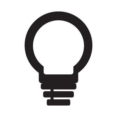 isolated abstract lightbulb concept. Vector illustration design