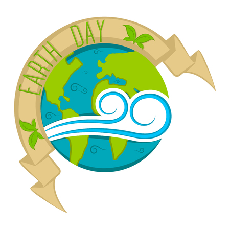 Isolated earth day label. Vector illustration design Ilustração