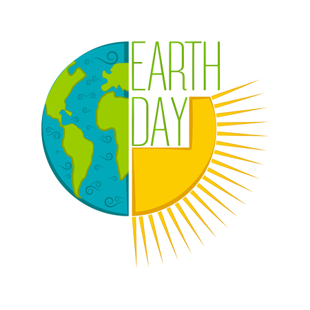 Étiquette de jour de la terre isolée. Conception d'illustration vectorielle
