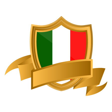 Isolated flag of Italy on premium label. Vector illustration design Illustration