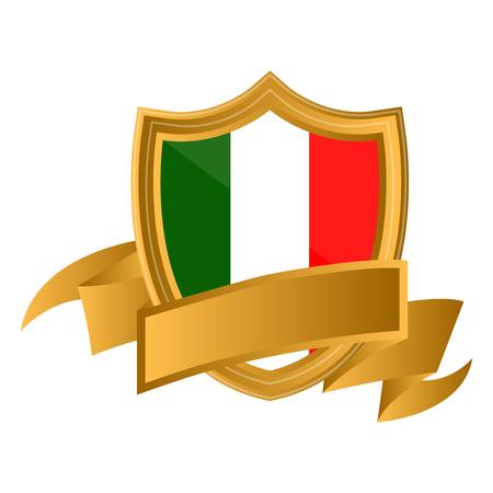 Isolated flag of Italy on premium label. Vector illustration design Vector Illustratie