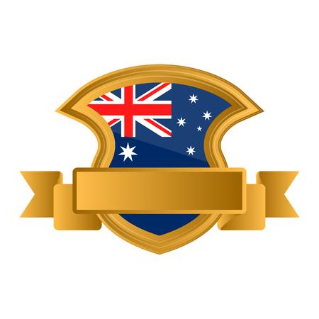 Isolated flag of Australia on premium label. Vector illustration design Stock Vector - 115266453