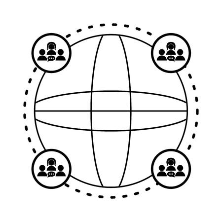 Isolated social network icon. Vector illustration design Ilustração