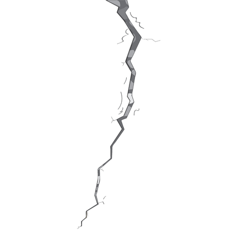 Isolated stone wall crack. Vector illustration design