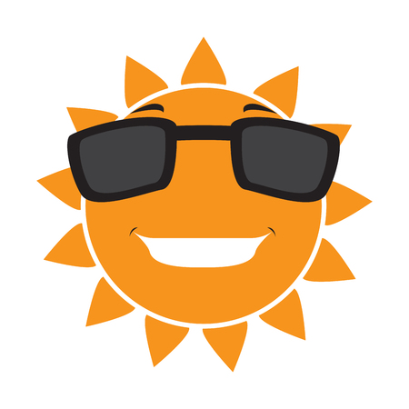 Isolated happy sun with sunglasses. Vector illustration design Vektorové ilustrace