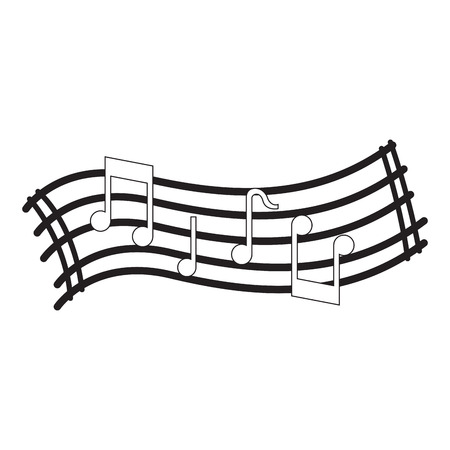 Isoliertes Musik-Pentagramm-Bild. Vektorillustrationsdesign