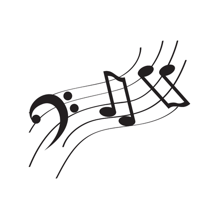 Isolated music pentagram image. Vector illustration design
