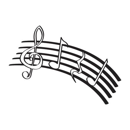 Isolated music pentagram image. Vector illustration design Vektorgrafik