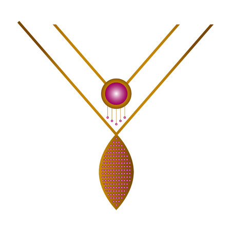Isolated beauty necklace image. Vector illustration design