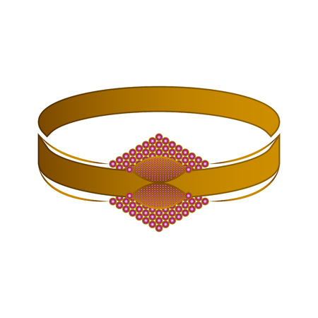 Isolated gold bracelet image. Vector illustration design Illustration