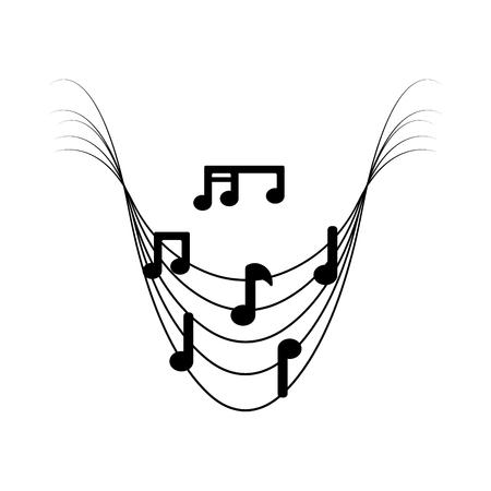 Isolated musical pentagram image. Vector illustration design Archivio Fotografico - 125482002