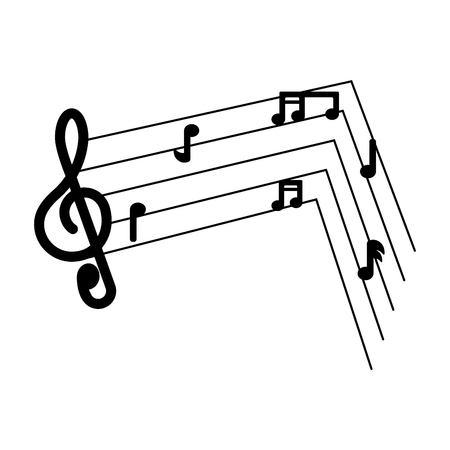 Isolated musical pentagram image. Vector illustration design Archivio Fotografico - 125482007