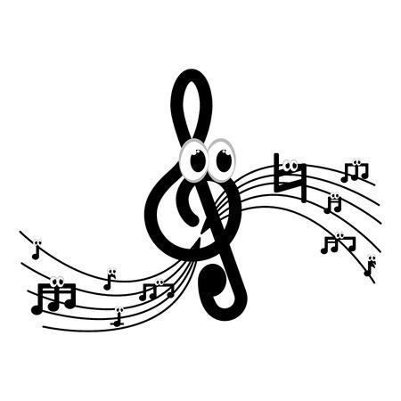 Isolated musical pentagram image. Vector illustration design Vektorgrafik
