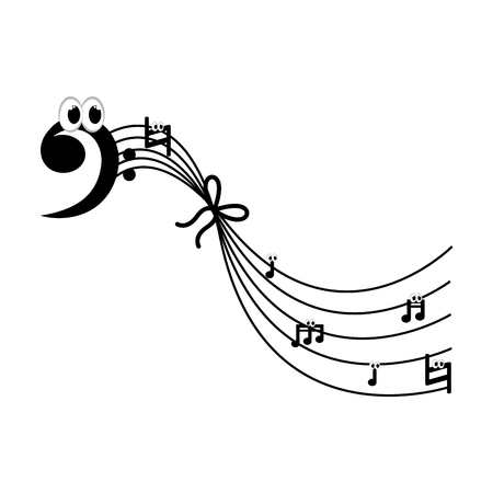 Isolated musical pentagram image. Vector illustration design