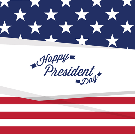 President day banner with text. Vector illustration design Illustration